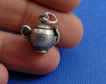 Teapot Charm - Silver Plated Teapot Charm for Necklace or Bracelet