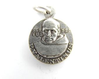 Vintage Pope Valentinus - Saint Anthony Catholic Medal - Pope Valentine Religious Charms - HH83