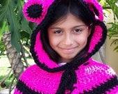 Crochet Hood, Crochet Cowl Hat, Crochet Hat, BEAR Knit HOODIE Scarf, Animal Baby Bear Hat Kids Unisex, Gift Bear Hat Handmade by Babyarns