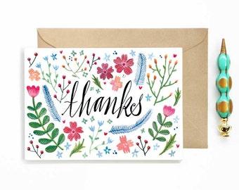Thanks Spring Floral Card