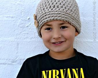 Easy Crochet Hat Pattern for Beginners using Super Bulky yarn ONE hour wonder No.126 Digital Download