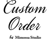 Hand Painted Custom Order Wine Glass by Mimossa Studio LLC