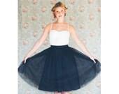 Women's Black knee length tulle skirt / adult tutu ballerina skirt  - made to order