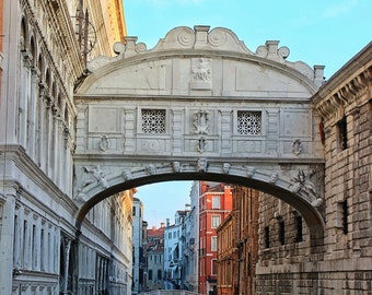 Fine Art photography, Venice, Italy, Bridge of Sighs, colour, morning, 8x12 shown, 8x10 available