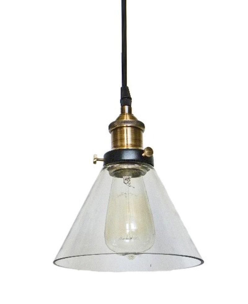 Glass Pendant Light Edison Antique Lamp Kitchen By