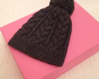 Шапка из альпаки. Тёплая, мягкая. Связана вручную. Handmade knitted alpaca hat. Warm and soft.