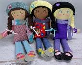 Miranda Doll - custom made rag doll gift for girl  personalized gift