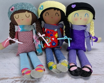 Miranda Doll - custom made rag doll gift for girl  personalized gift