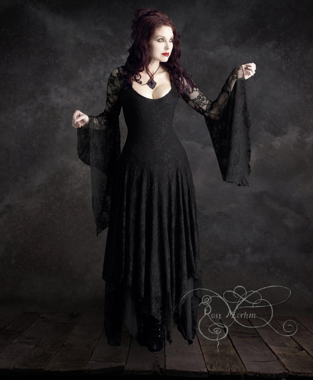 Annaleah Romantic Gothic Wedding Dress Custom Made by