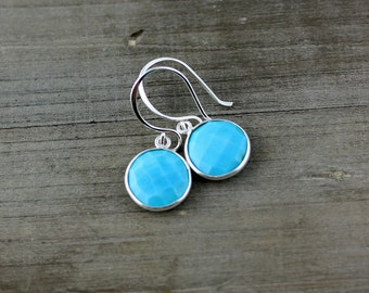 Turquoise Earrings on Sterling Silver