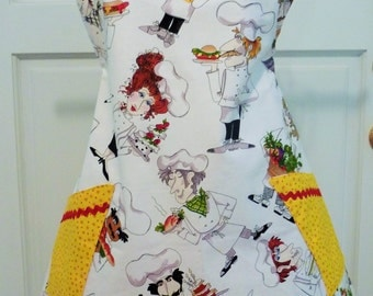 Fun Chef Printed Fabric Full Apron