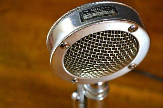 SALE Vintage Microphone Astatic D104 Transceiver Radio