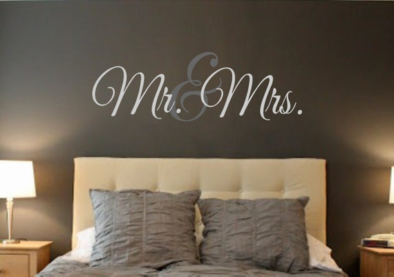 Mr. & Mrs. Vinyl Wall Decal Wall Quotes Decals-Words For