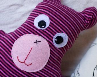 A Little Cooky Pink Striped Bear