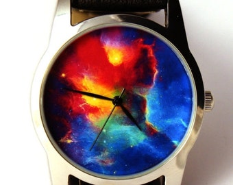 Wrist watch Nebula Hubble space photo, unisex watch, women watch, men wrist watch