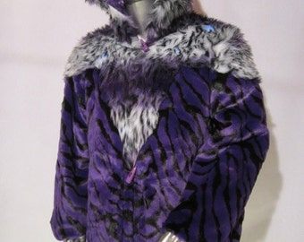 Purple  Liger    Light Up Coat    Brocade interior   Limited edition Made by King from Burning Man the Documentary   RT