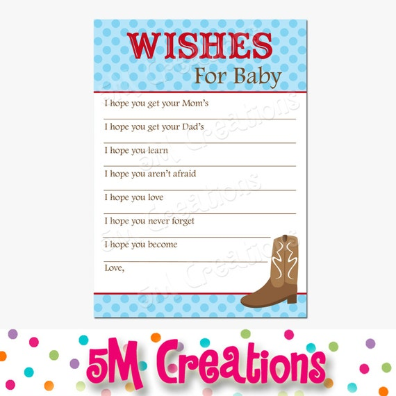 wishes for baby cards baby blessing card western baby shower