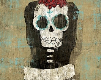 Dia de los Muertos Calavera Bride - 12x18 High Quality Art Print