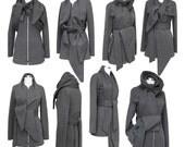 SALE - Statement Wrap Scarf Jacket - High Quality Sweatshirt Fleece
