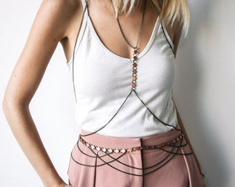 Circe Draped Chain Body Jewelry Belly Chain Belt