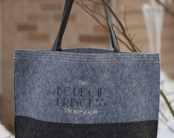 Personalized Embroidered-LARGE Felt Tote- Great bridal parties, clubs, teams or add your own design