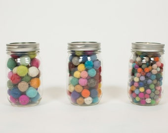 Pick your favorite colors from more than 45 color choices 100 felted balls,15mm