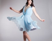 Vintage 1960s Chiffon Dress - 60s Jack Bryan Dress - Flying High Dress