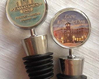 Wedding Favors, Wine Bottle Topper, Personalized, custom designs or photos Quantity 100
