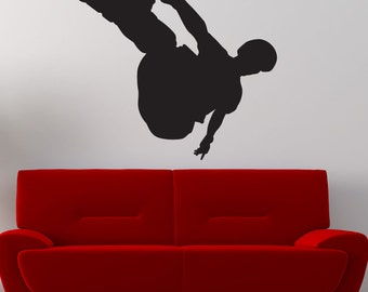 Vinyl Wall Art Decal Sticker Rollerblade Trick 1551s