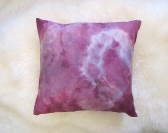 Pink Silk Tie Dye Pillow