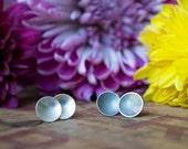 Simple Dimple Studs - Post Earrings - Sterling Silver Earrings - Everyday Earrings - Gift for Women  studs - small earrings  unique earrings