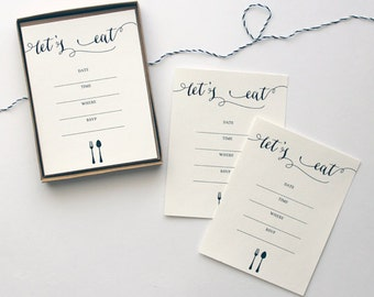 Let's Eat - Dinner Party Invitations - Set of 10