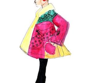 Ltd Edition Fashion Illustration Giclee print 'Fashion Doll 2'