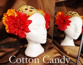 Tribal Fusion ATS Belly Dance Headpiece, Cotton Candy