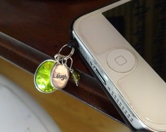 Charm: Laugh, Crystal, and Green Phone Dust Cover