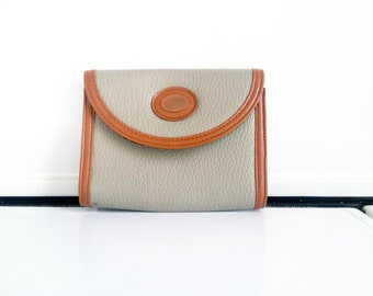 Vintage Leather Clutch in Gray / Nikki Mono