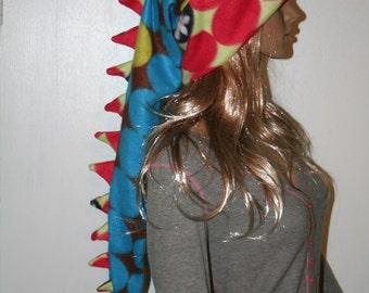 Dragon Hat Polka Dot Alligator Long Snowboarding Dinosaur Tail Hat Fleece Winter Ski Snow Stocking