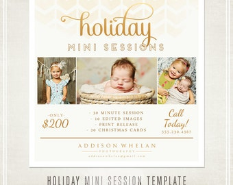 Photography Marketing Holiday Mini Sessions Template