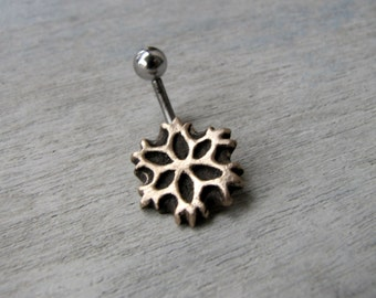 Belly ring snowflake