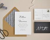 Wedding Invitation Sample - The Ellie Suite