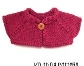 PATTERN Knitting Simple Shrug - Waldorf Doll Pattern - Bamboletta Clothes