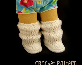PATTERN Tutorial Crochet Slouchee Boots - Waldorf Doll Pattern