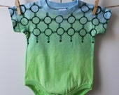 Chain Link Field Hand Dyed Baby Bodysuit