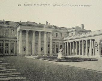 Vintage French Unused Postcard - Château de Rochefort-en-Yvelines, Île-de-France