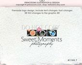 photography logo, custom camera logo.  Premade Logo Design Three cameras logo design orange flower cloud camera logo by princessmi 1166-7