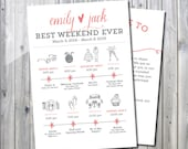 Printable Destination Wedding Icon Itinerary with Welcome Letter