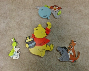 Vintage 1965 Winnie the Pooh 4 piece Wall Hanging set