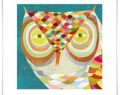 All Seeing Owl // Giclee Art Print