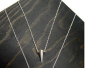 Sterling Silver Spike Stud Necklace with CZ - Donation with Purchase