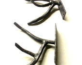 ONE Hand Forged Iron Tree Branch Style Coat Hook by VinTin